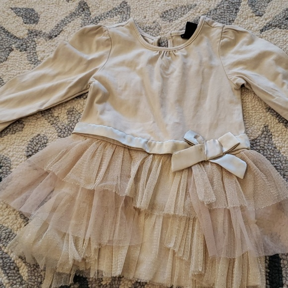 Old Navy Other - Old Navy gold ling sleeve dress